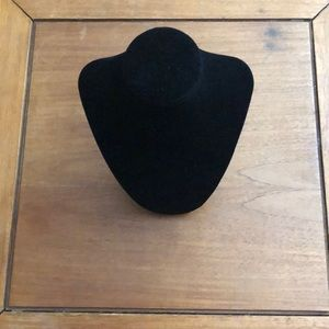 2 Black velvet neck forms